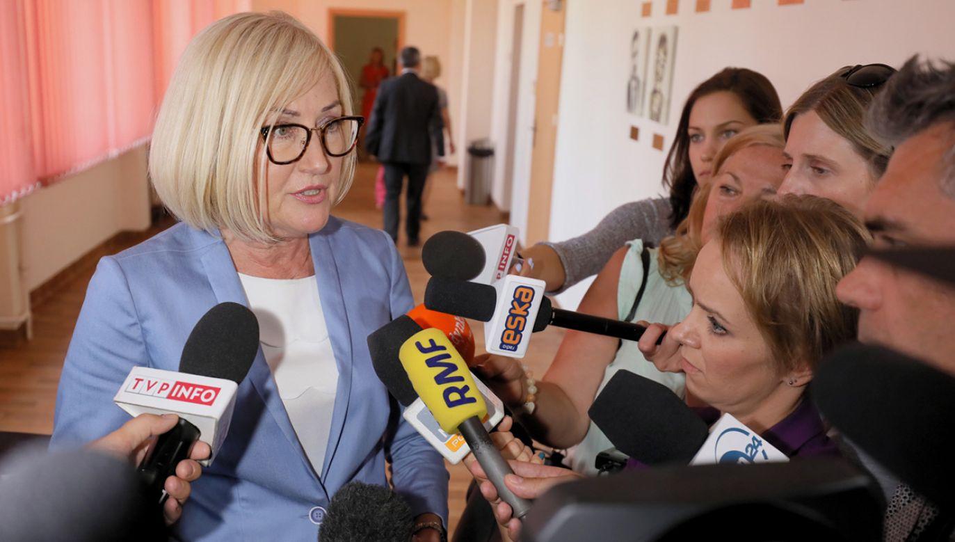 Rzecznik rządu Joanna Kopcińska (fot. PAP/Paweł Supernak)