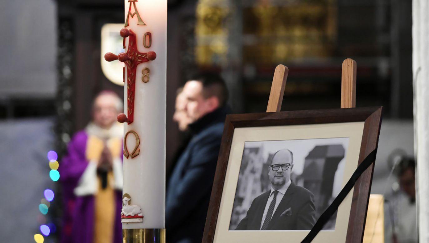 Msza św. w intencji  zmarłego prezydenta Gdańska Pawła Adamowicza (fot. PAP/Adam Warżawa)