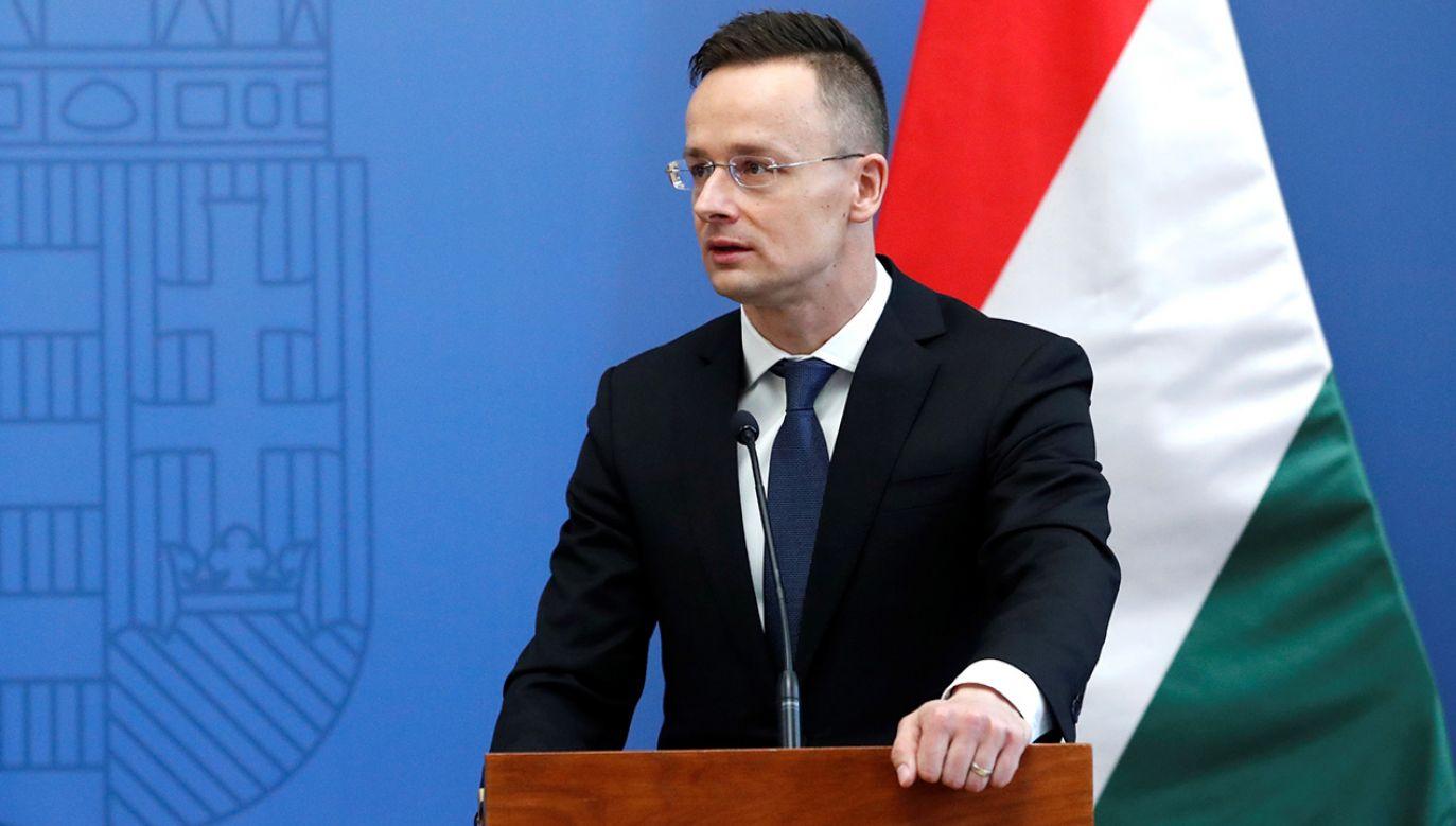 Péter Szijjártó, minister spraw zagranicznych Węgier (fot. REUTERS/Bernadett Szabo)