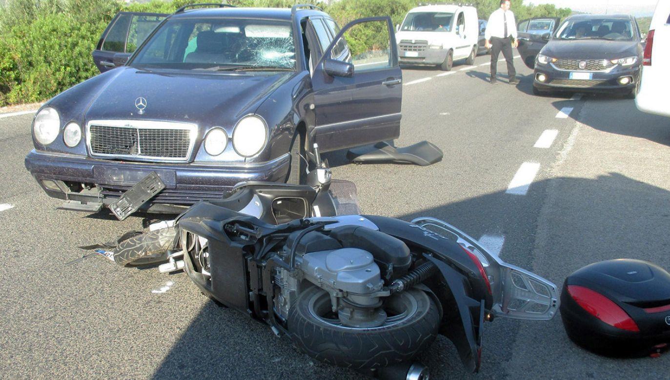 Choć sytuacja wyglądała groźnie obrażenia okazały się niezbyt poważne (fot. PAP/EPA/OLBIA LOCAL POLICE)
