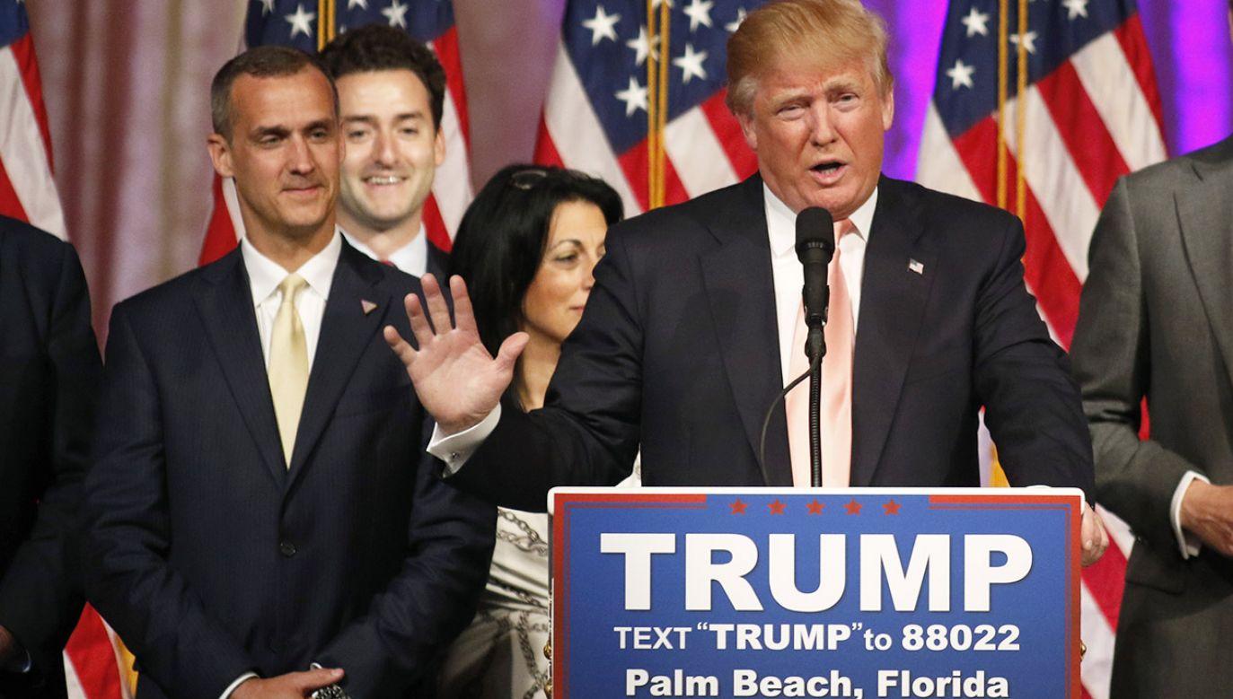 Corey Lewandowski był szefem kampanii prezydenckiej Donalda Trumpa (fot. REUTERS/Joe Skipper)