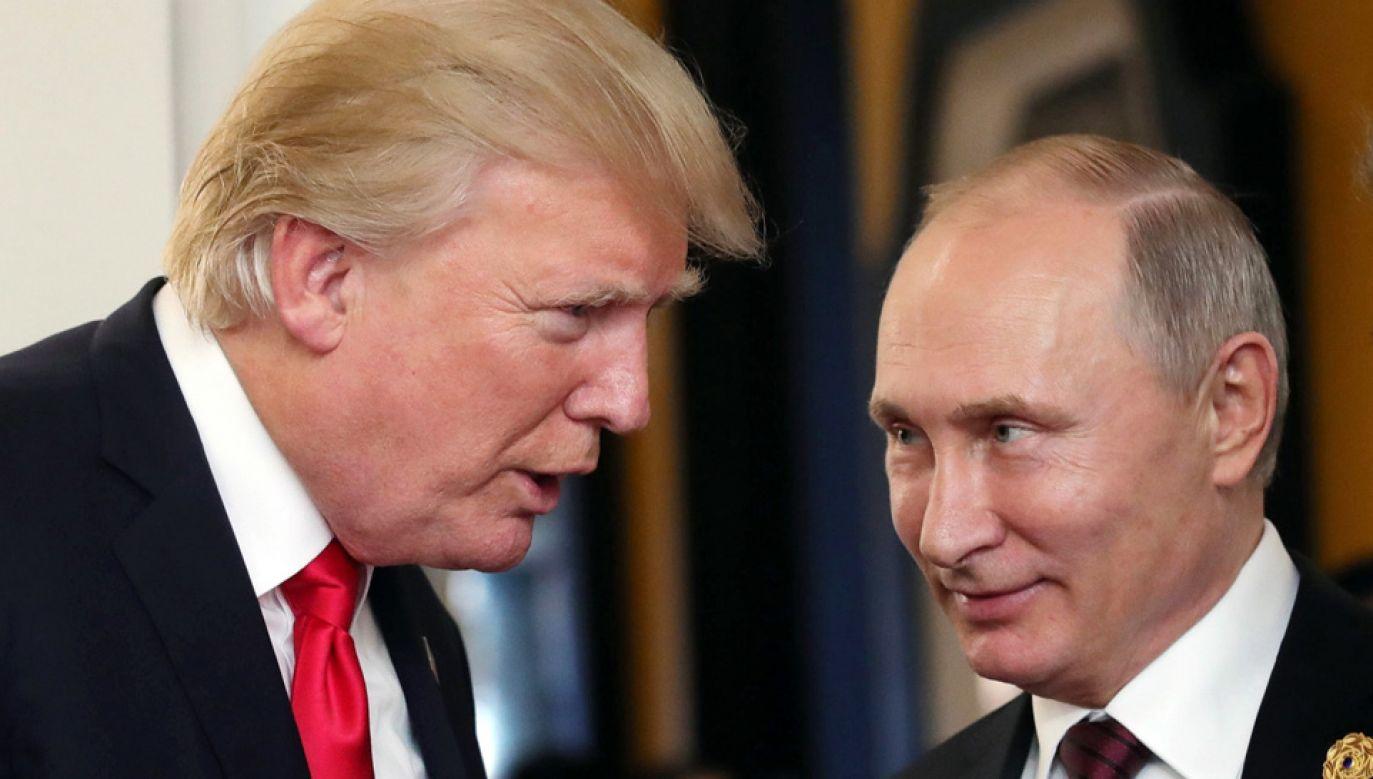 Donald Trump i Władimir Putin spotkają się w poniedziałek w Helsinkach (fot. PAP/EPA/MIKHAIL KLIMENTYEV/SPUTNIK/KREML)