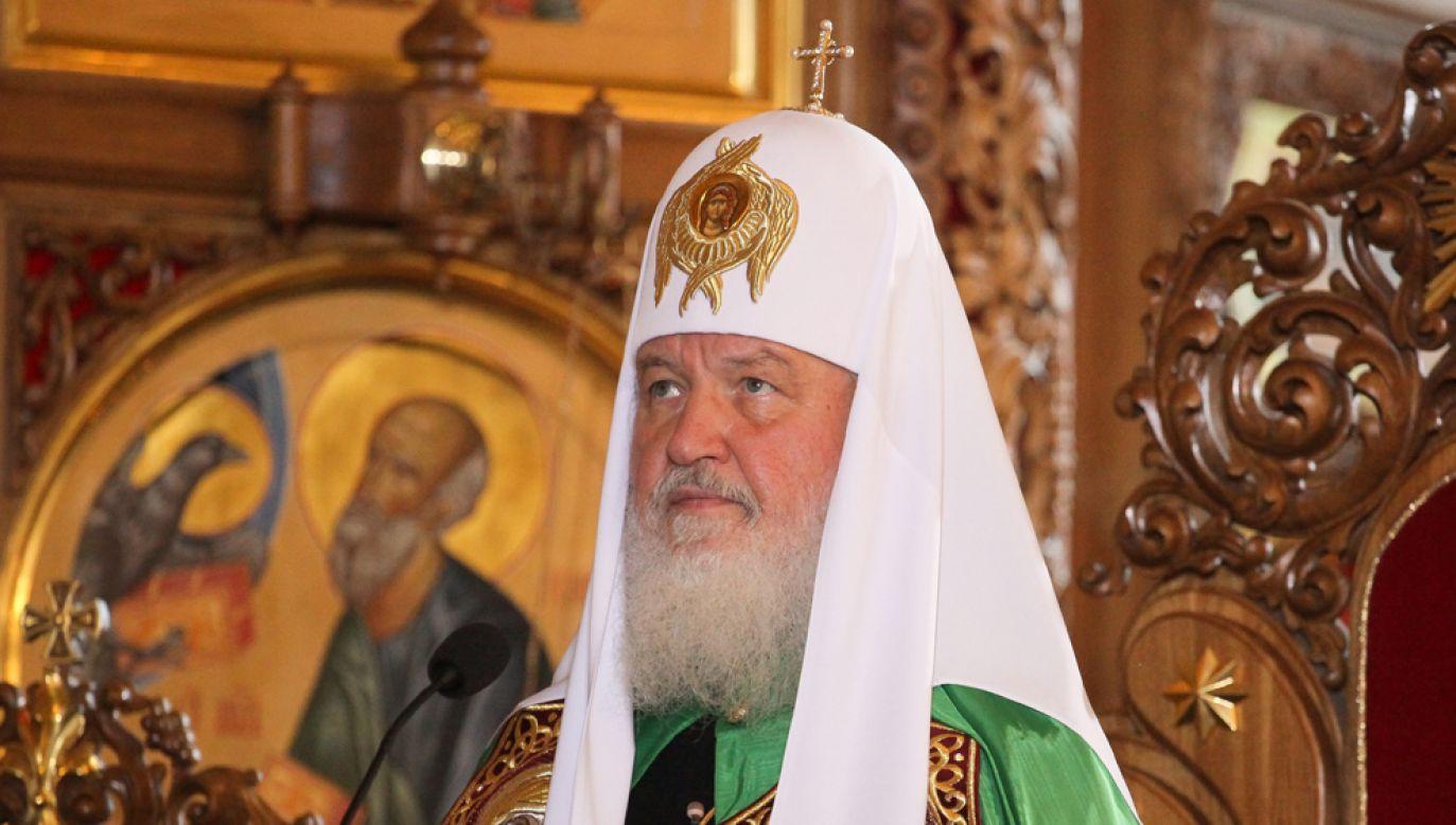 Rzecznik patriarchy moskiewskiego Cyryla I (na zdj.) oświadczył, że decyzje soboru zjednoczeniowego nie mają mocy kanonicznej (fot. arch PAP / Paweł Supernak)