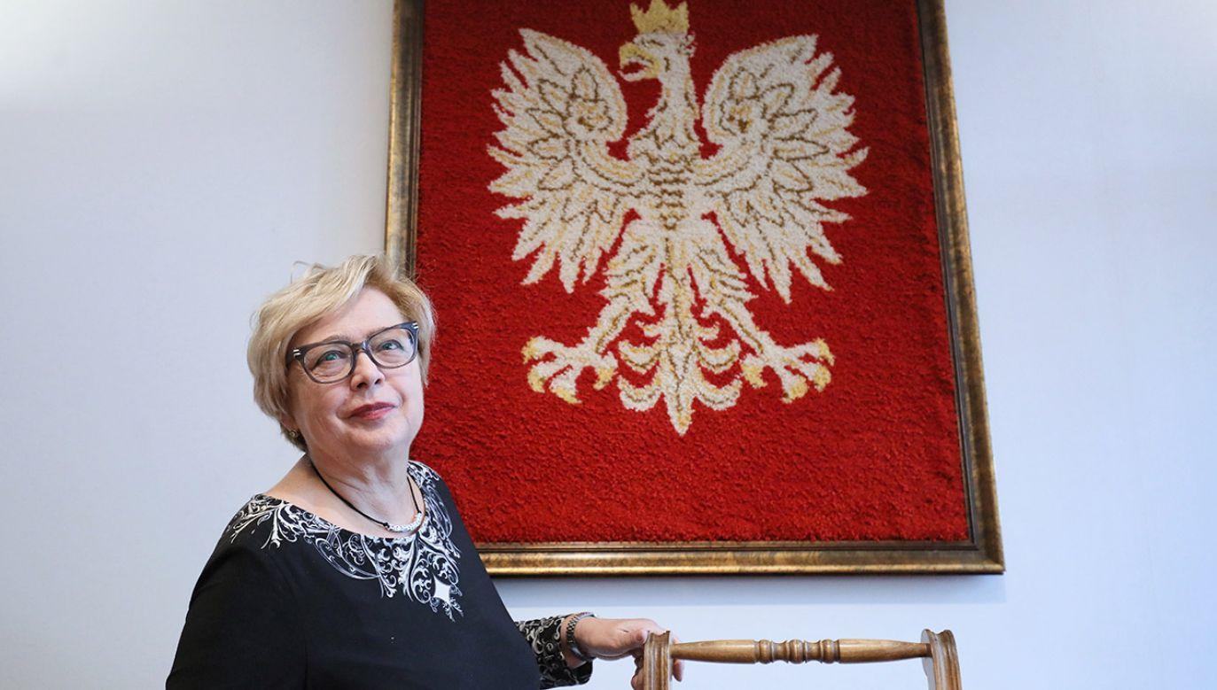 Była I prezes Sądu Najwyższego Małgorzata Gersdorf (fot. PAP/Paweł Supernak)