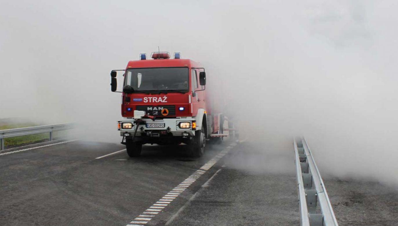 Ruch samochodów skierowany został na równoległą DK 91 (fot. TT/GDDKiA Bydgoszcz)