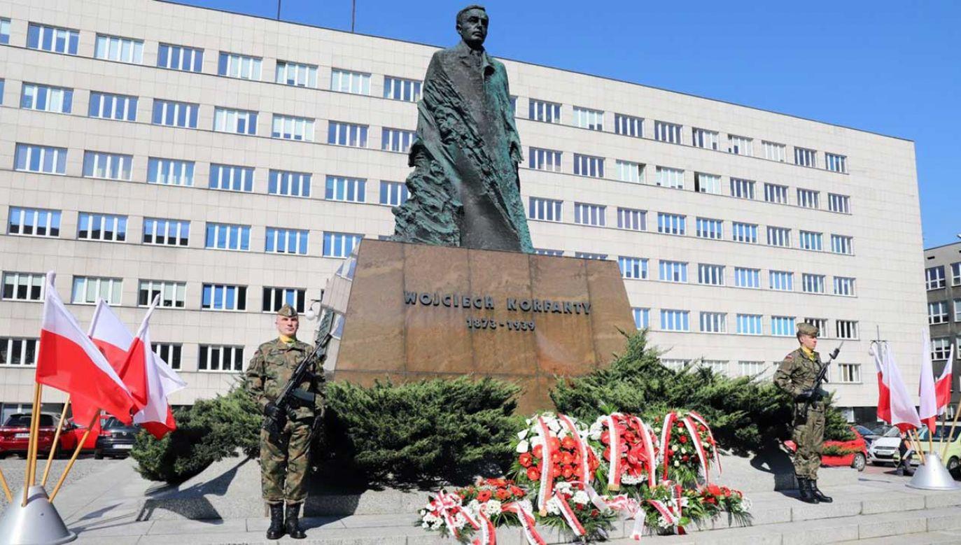Na Śląsku uczczono w czwartek przypadającą 20 kwietnia 146. rocznicę urodzin Wojciecha Korfantego (fot. TT/Śląski Urząd Wojew.)
