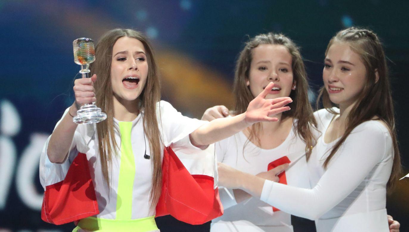 13-letnia Roksana Węgiel jest pierwszą polska zwyciężczynią Eurowizji dla Dzieci (fot PAP/EPA/TATYANA ZENKOVICH)