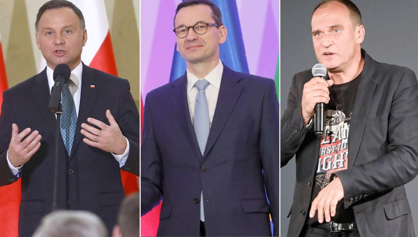 Na czele sondażu CBOS znaleźli się Andrzej Duda, Mateusz Morawiecki i Paweł Kukiz (fot. arch.PAP/Rafał Guz (2)/Paweł Supernak)