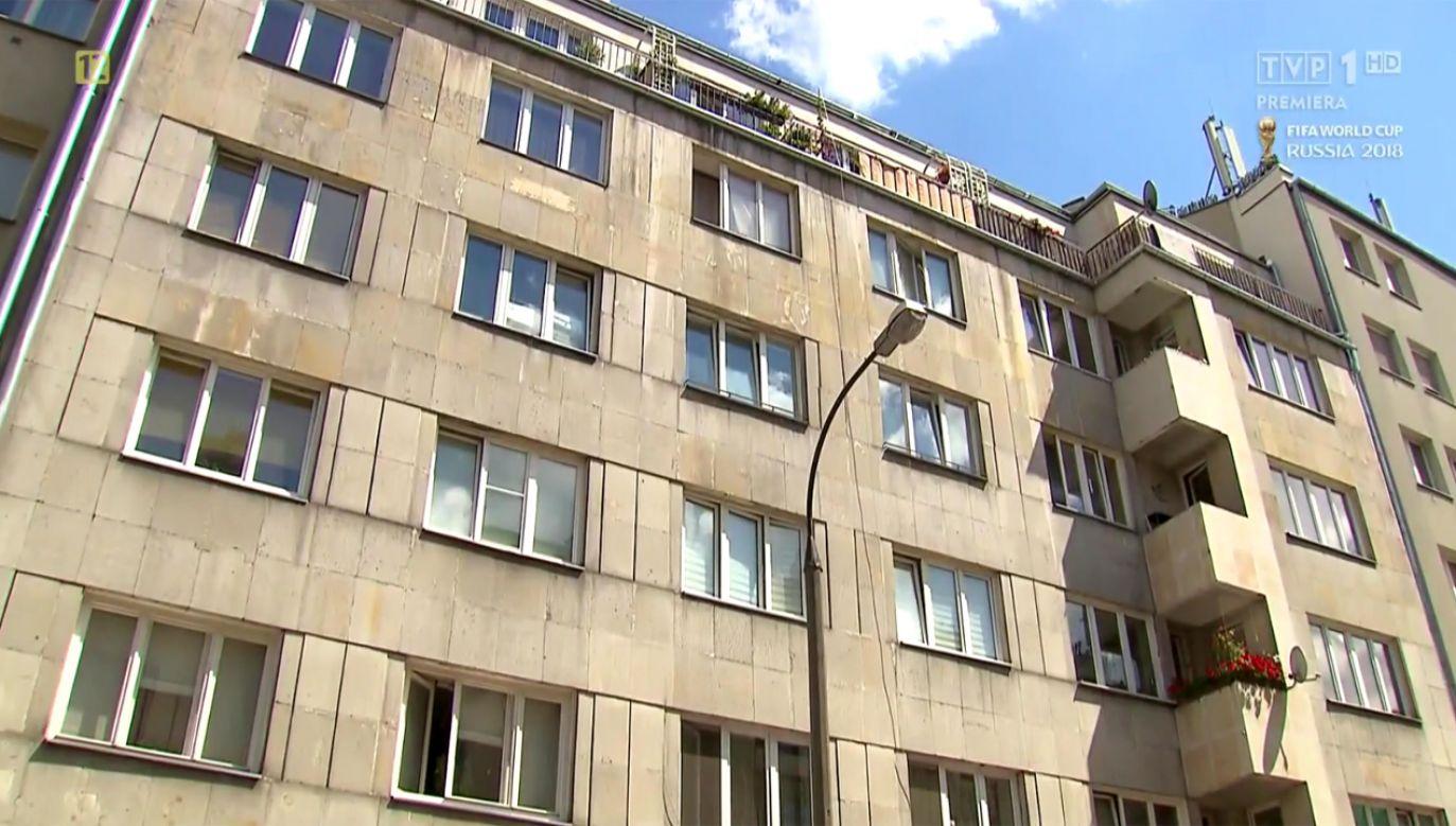 Lokal, który chce wykupić były wiceprezydent Warszawy to kawalerka (fot. TVP1)