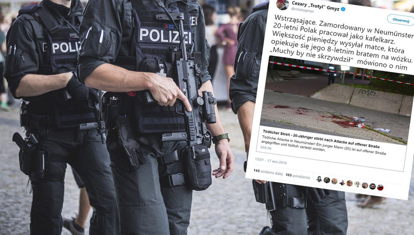 Po zabójstwie w Chemnitz doszło do rozruchów, podczas których interweniowała policja (fot. Gina Wetzler/Getty Images/tt/@cezarygmyz)