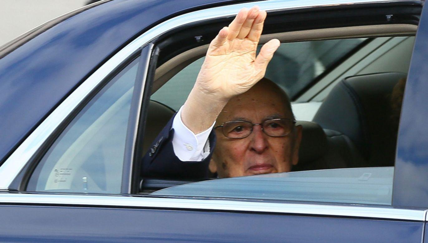 92-letni Giorgio Napolitano wciąż jest aktywnym politykiem (fot. Evren Atalay/Anadolu Agency/Getty Images)