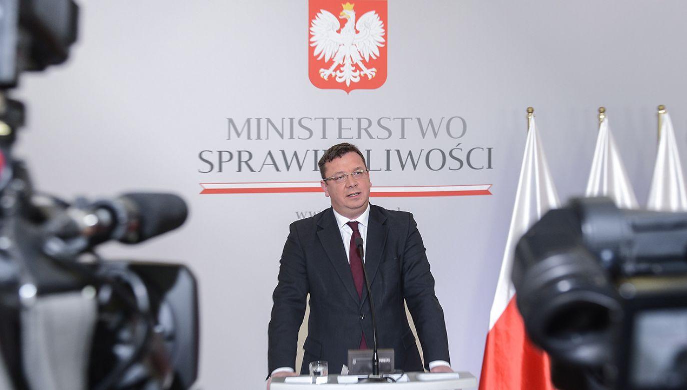 Wiceminister sprawiedliwości Michał Wójcik (fot. arch. PAP/Jakub Kamiński)