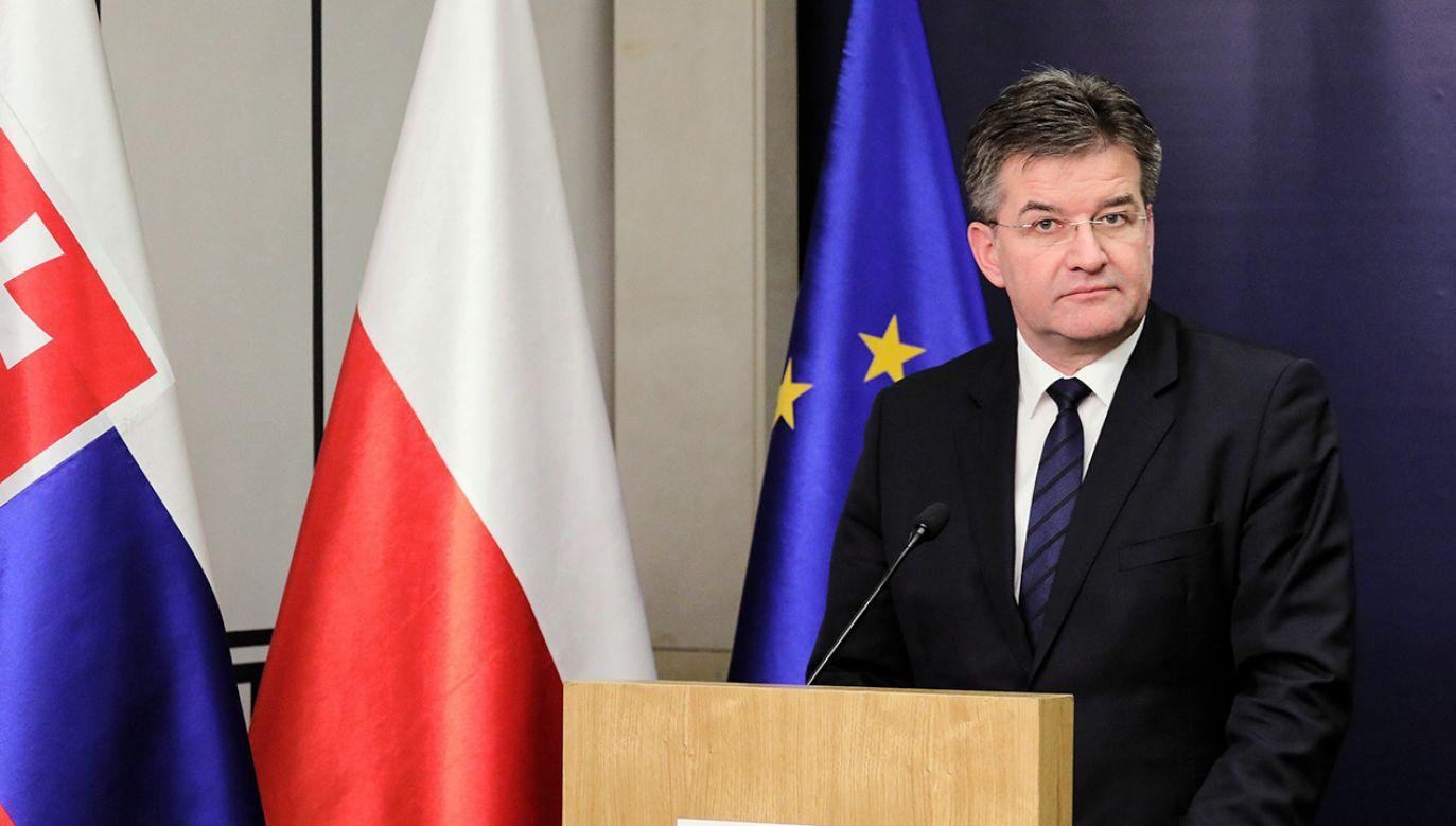 Minister spraw zagranicznych Słowacji Miroslav Lajczak został poproszony o komentarz do wypowiedzi szefa słowackiego MSZ (fot. arch. PAP/Paweł Supernak)