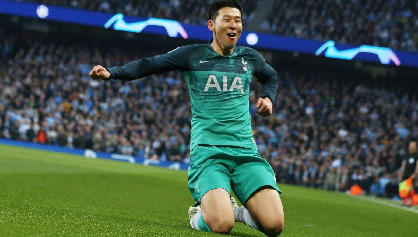 Son Heung-min strzelił City trzy gole w dwumeczu (Fot. PAP/EPA)