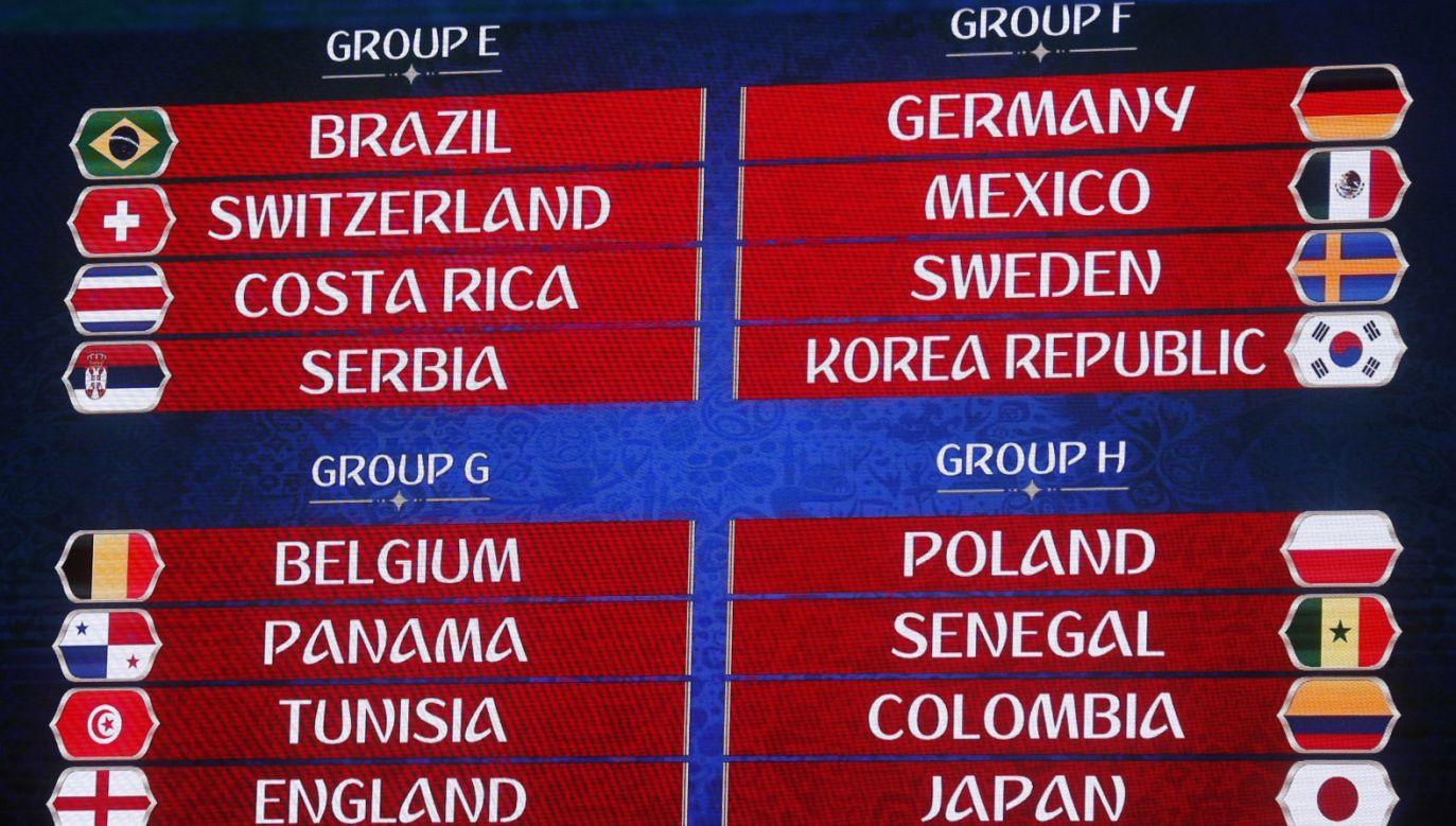 Losowanie fazy grupowej przeprowadzono w piątek w Moskwie (fot. PAP/EPA/SERGEI CHIRIKOV)