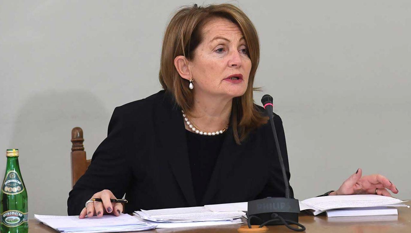 Była podsekretarz stanu w Ministerstwie Finansów Elżbieta Chojna-Duch przed sejmową komisją śledczą (fot. arch. PAP/Piotr Nowak)
