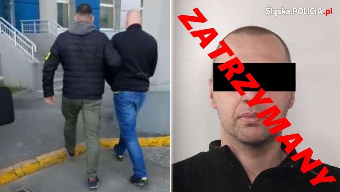 Mężczyzna przez większość czasu ukrywał się w Niemczech (fot. slaska.policja.gov.pl)