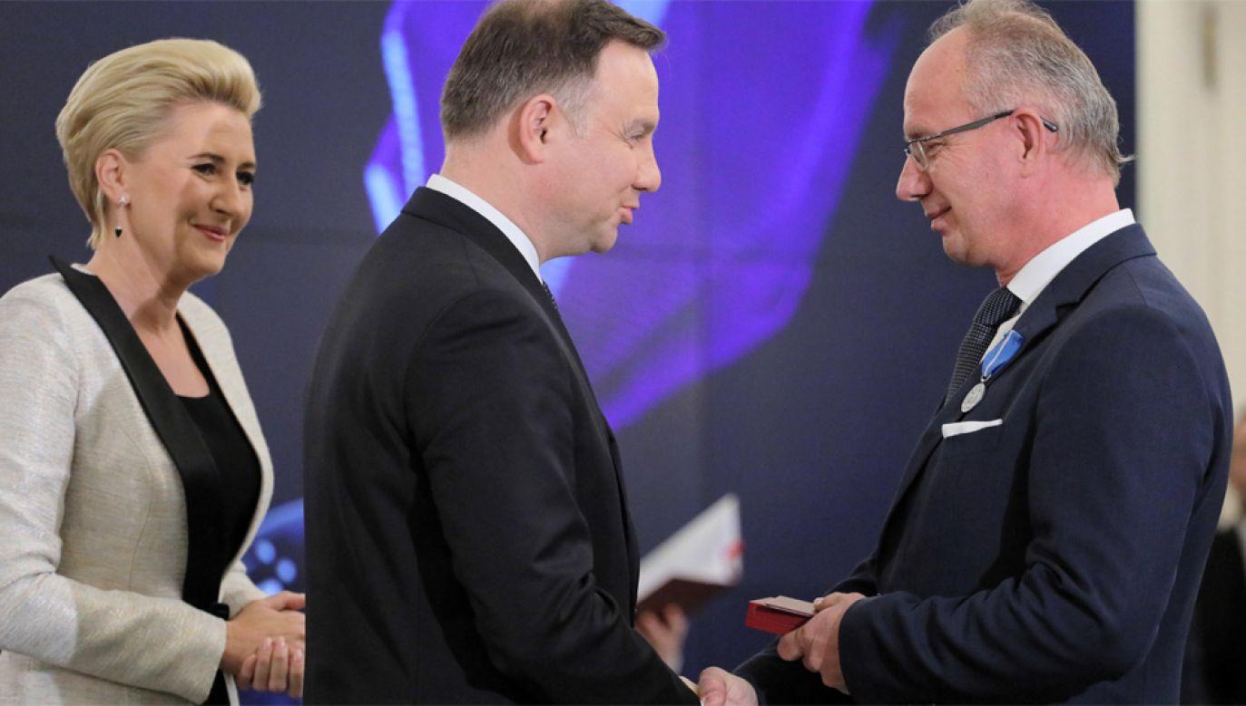 Wśród nagrodzonych przez prezydenta Andrzeja Dudę jest m.in. prof. Krzysztof Szwagrzyk (fot. PAP/Paweł Supernak)