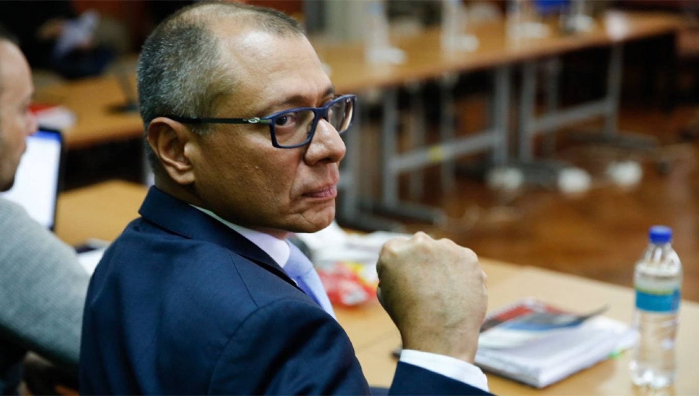 Były wiceprezydent Ekwadoru Jorge David Glas był zamieszany w aferę Petrobras (fot. PAP/EPA/Jose Jacome)