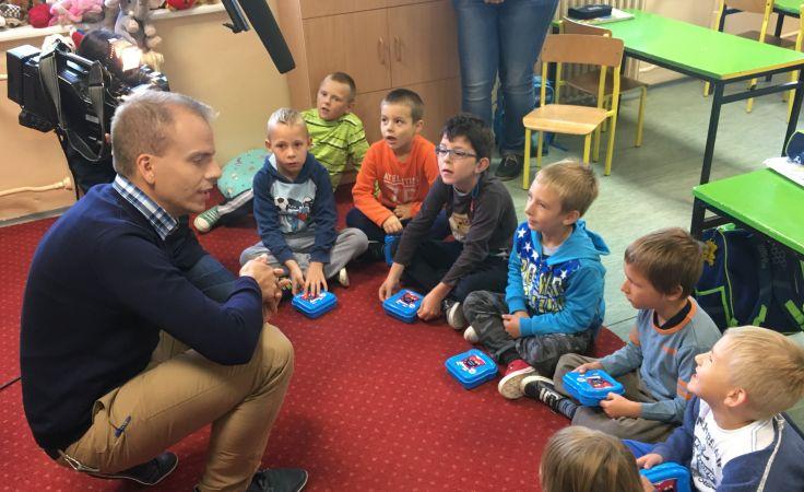 Akcja odbyła się w Szkole Podstawowej im. Jana Pawła II w Łęgajnach