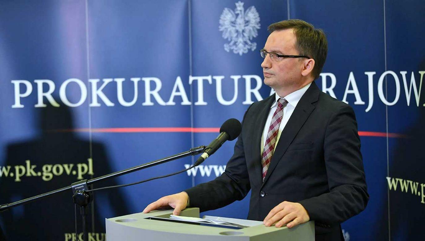 Zbigniew Ziobro skomentował wniosek o wotum nieufności wobec niego (fot. arch. PAP/Bartłomiej Zborowski)