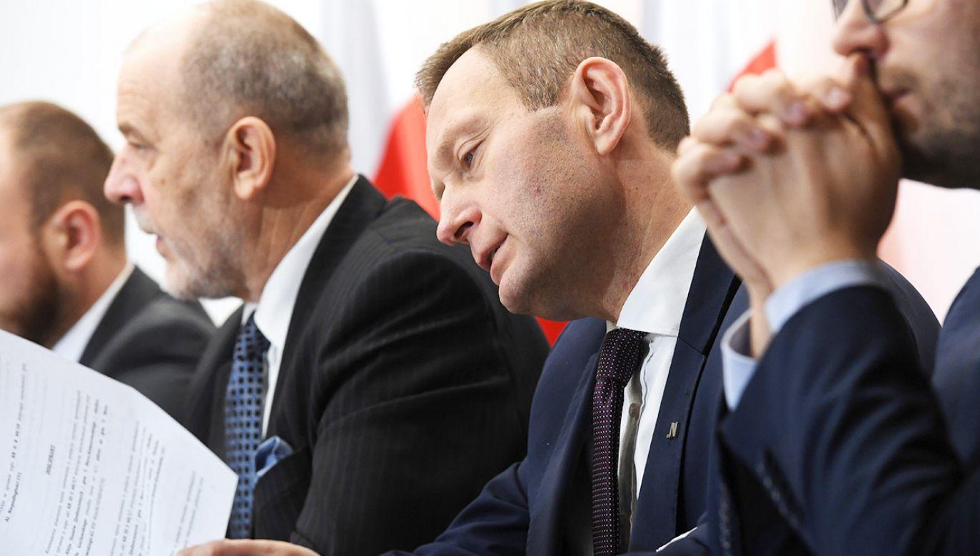 Paweł Rabiej o zeznaniach Chojny-Duch przed komisją śledczą ds. VAT (fot. PAP/Piotr Nowak)