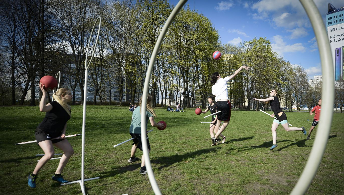 Quidditch game in Warsaw, Poland. Photo: Jaap Arriens/NurPhoto via Getty Images