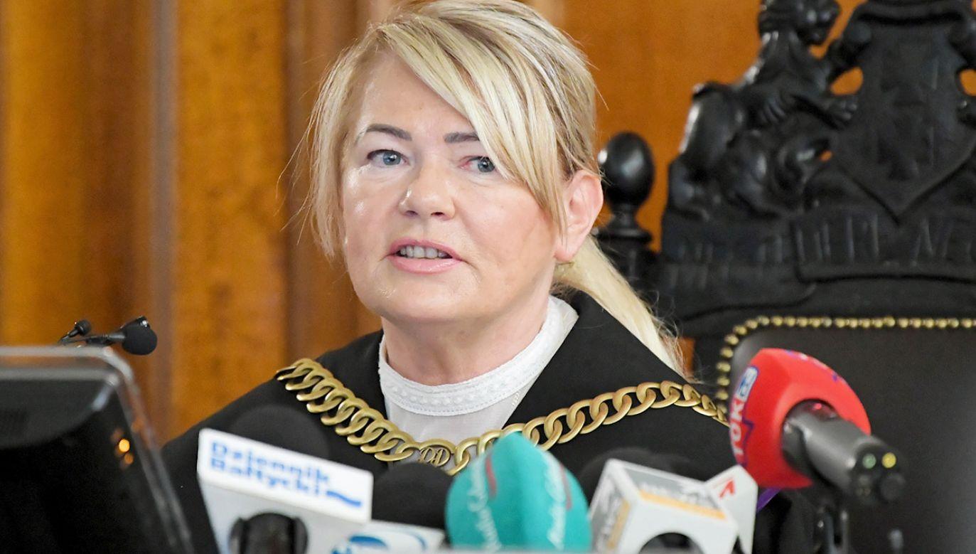 Sędzia Lidia Jedynak na sali Sądu Okręgowego w Gdańsku (fot. PAP/Adam Warżawa)