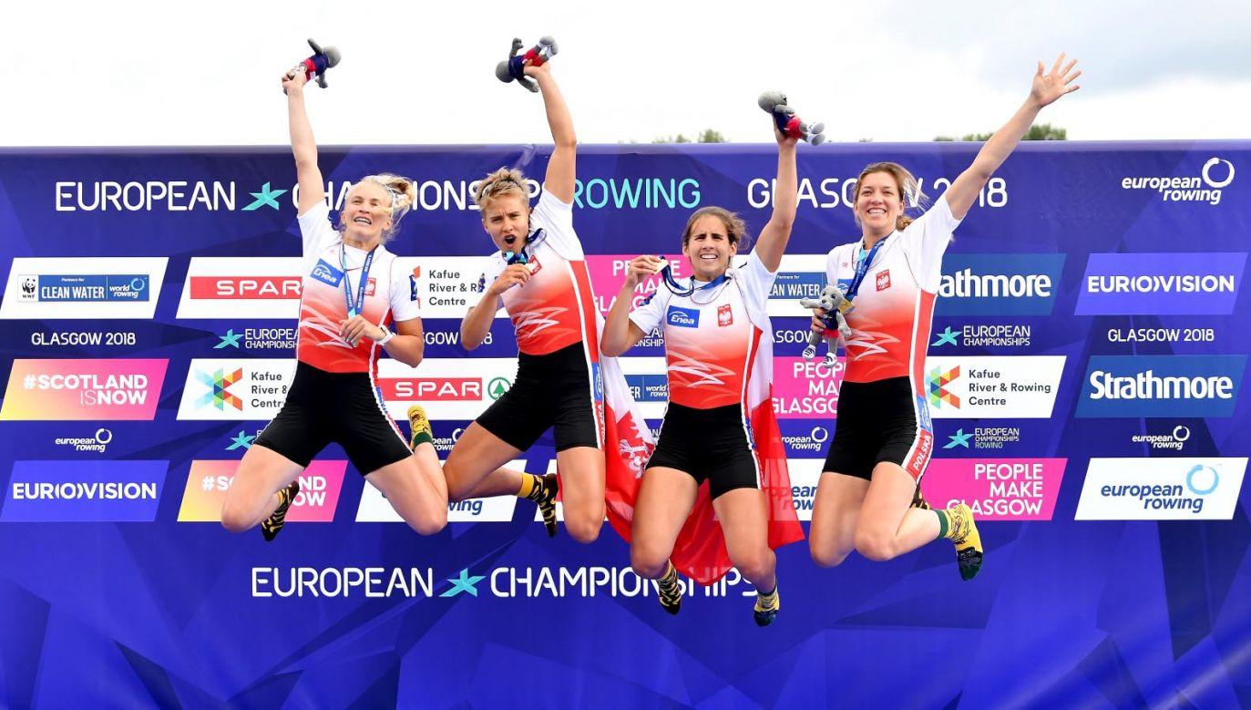 Złote medalistki – od lewej: Agnieszka Kobus-Zawojska, Katarzyna Zillmann, Maria Springwald i Marta Wieliczko (fot.  PAP/Bartłomiej Zborowski)