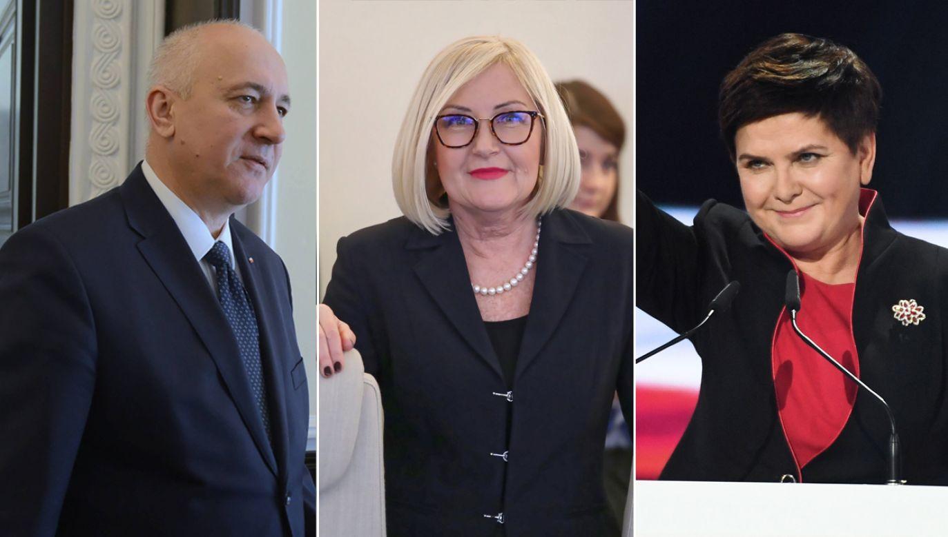 Listy otwierać będą m.in. Beata Szydło, Joachim Brudziński, Joanna Kopcińska (fot. arch. PAP)