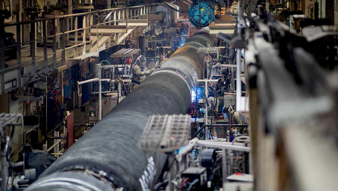 Budowany od kilku miesięcy Nord Stream 2 jest wspólnym przedsięwzięciem rosyjskiego Gazpromu oraz pięciu zachodnich firm energetycznych (fot. TT/Nord Stream 2 Corp.)