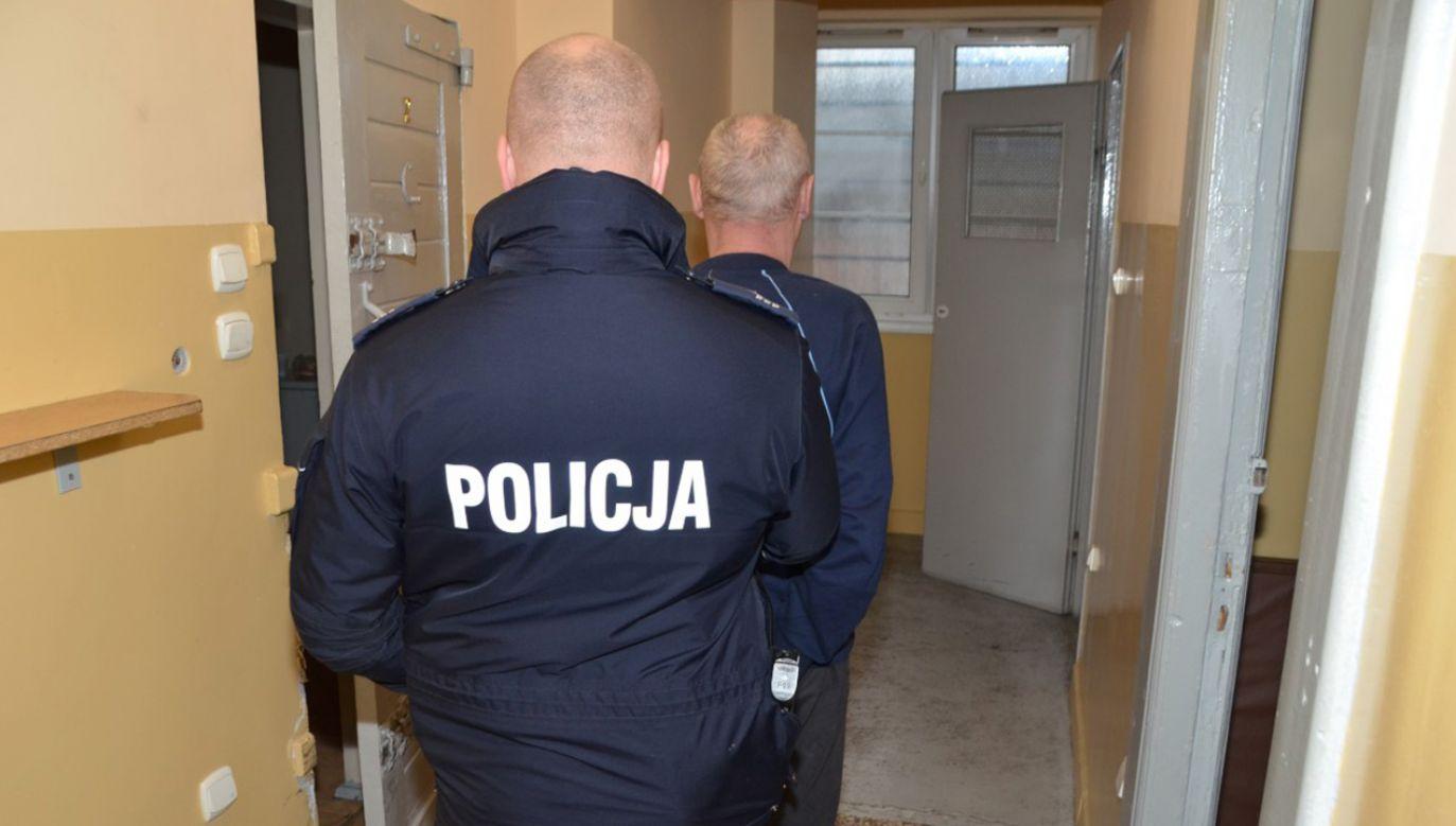 55-latkowi grozi dożywocie (fot. pomorska.policja.gov.pl)
