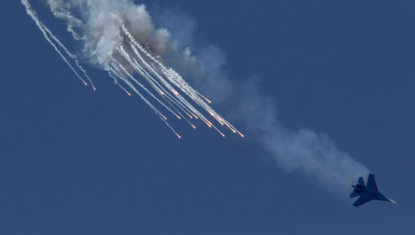 Su-27 –rosyjski jednomiejscowy samolot myśliwski przechwytujący jest przeznaczony także do walki w powietrzu (fot.  aviation-images.com/UIG via Getty Images)