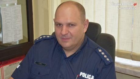 Zastępca Dyżurnego asp. szt. Krzysztof Szulc. Foto. Śląska Policja