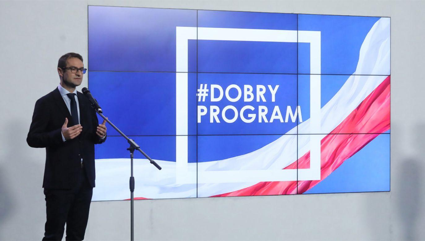 Tomasz Poręba nie wyklucza żadnej koalicji po wyborach samorządowych (fot. PAP/Paweł Supernak)