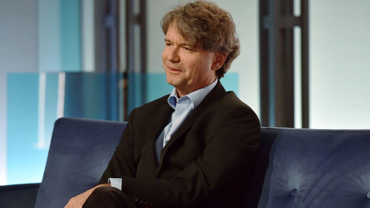 Paweł Kowalski  - muzyk, pianista i komentator konkursów. (fot. Ireneusz Sobieszczuk/ TVP)