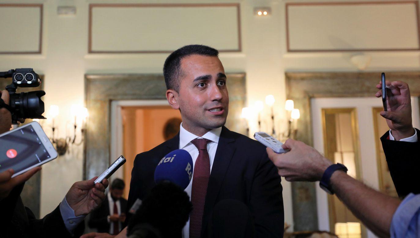 Di Maio jest krytyczny wobec obecnej polityki Unii Europejskiej (fot. REUTERS/Mohamed Abd El Ghany)