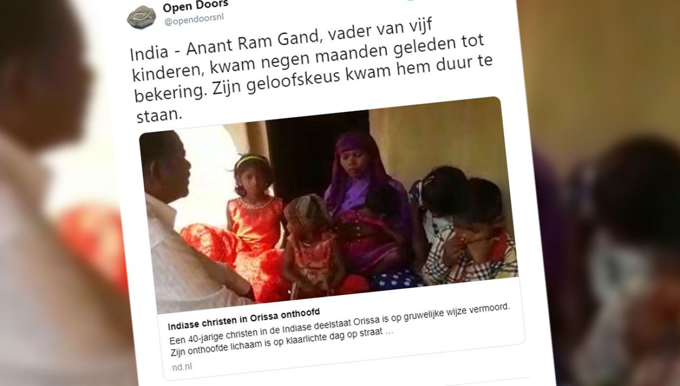 Mężczyzna był ojcem 5 dzieci (fot. TT/Open Doors)