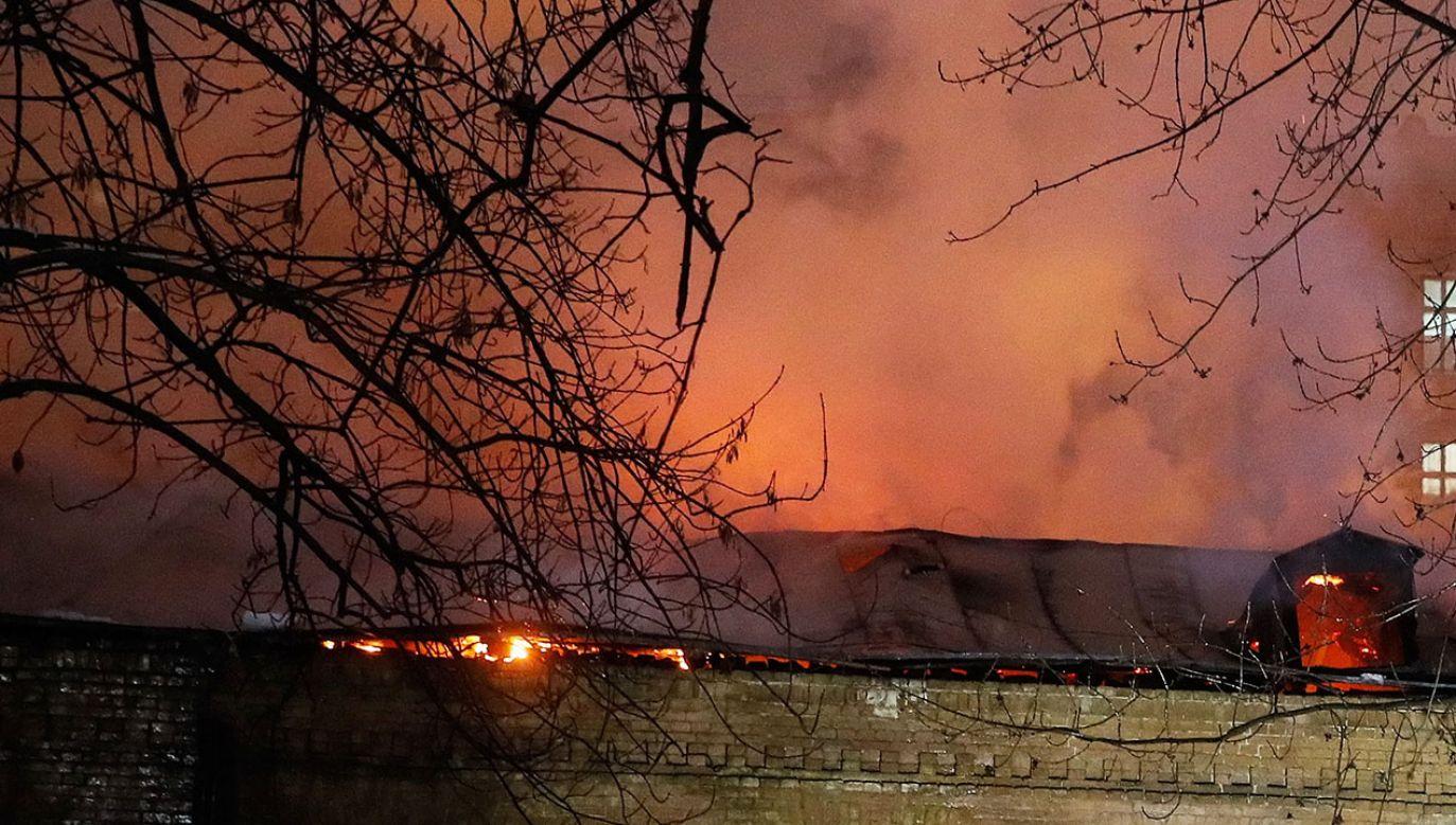 Z budynku ewakuowane zostały 232 osoby (fot. PAP/EPA/SERGEY DOLZHENKO, zdjęcie ilustracyjne)