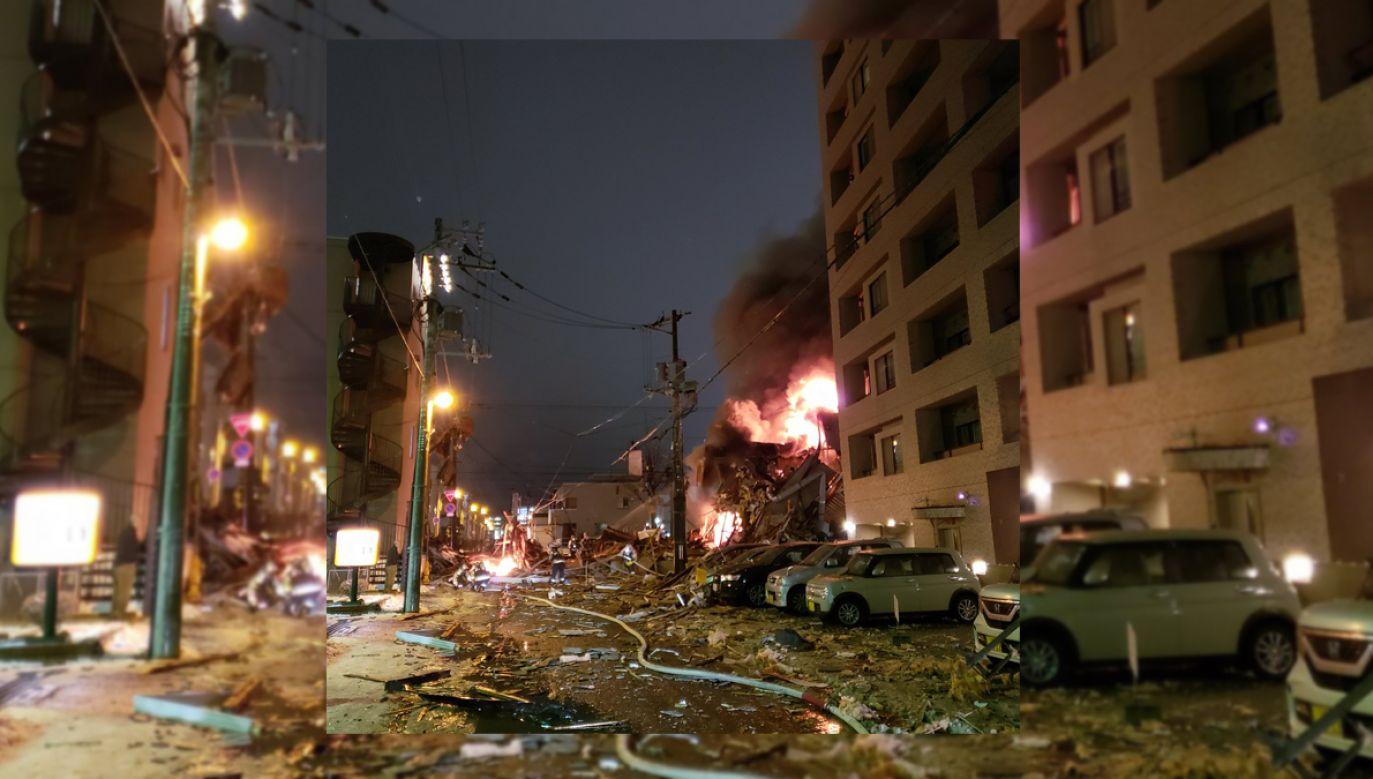 Wybuch zniszczył restaurację w Sapporo (fot. tt/guyelster)