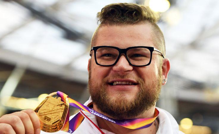 Mistrz świata w rzucie młotem Paweł Fajdek (fot. PAP/EPA/ANDY RAIN)