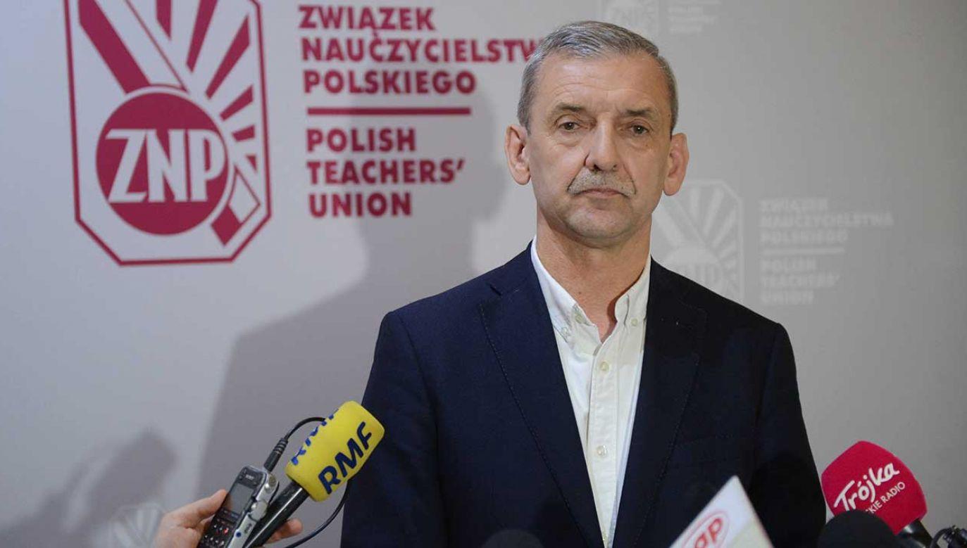 Szef ZNP Sławomir Broniarz (fot. arch. PAP/Jakub Kamiński)