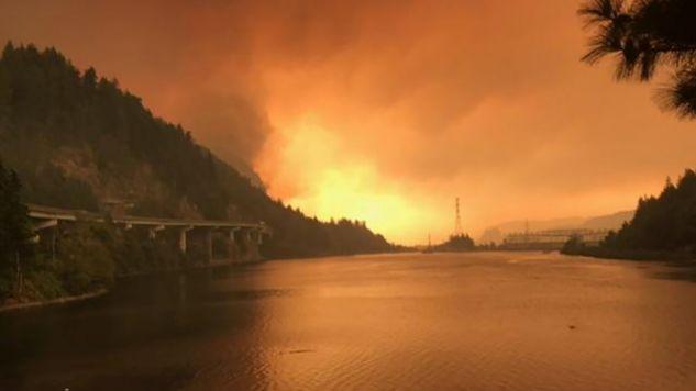 Rzeka  Columbia w Oregonie, 5 września 2017  (fot. Inciweb/Handout via REUTERS)