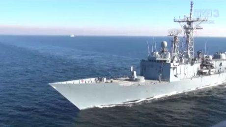 Powrót okrętów po manewrach PASSEX