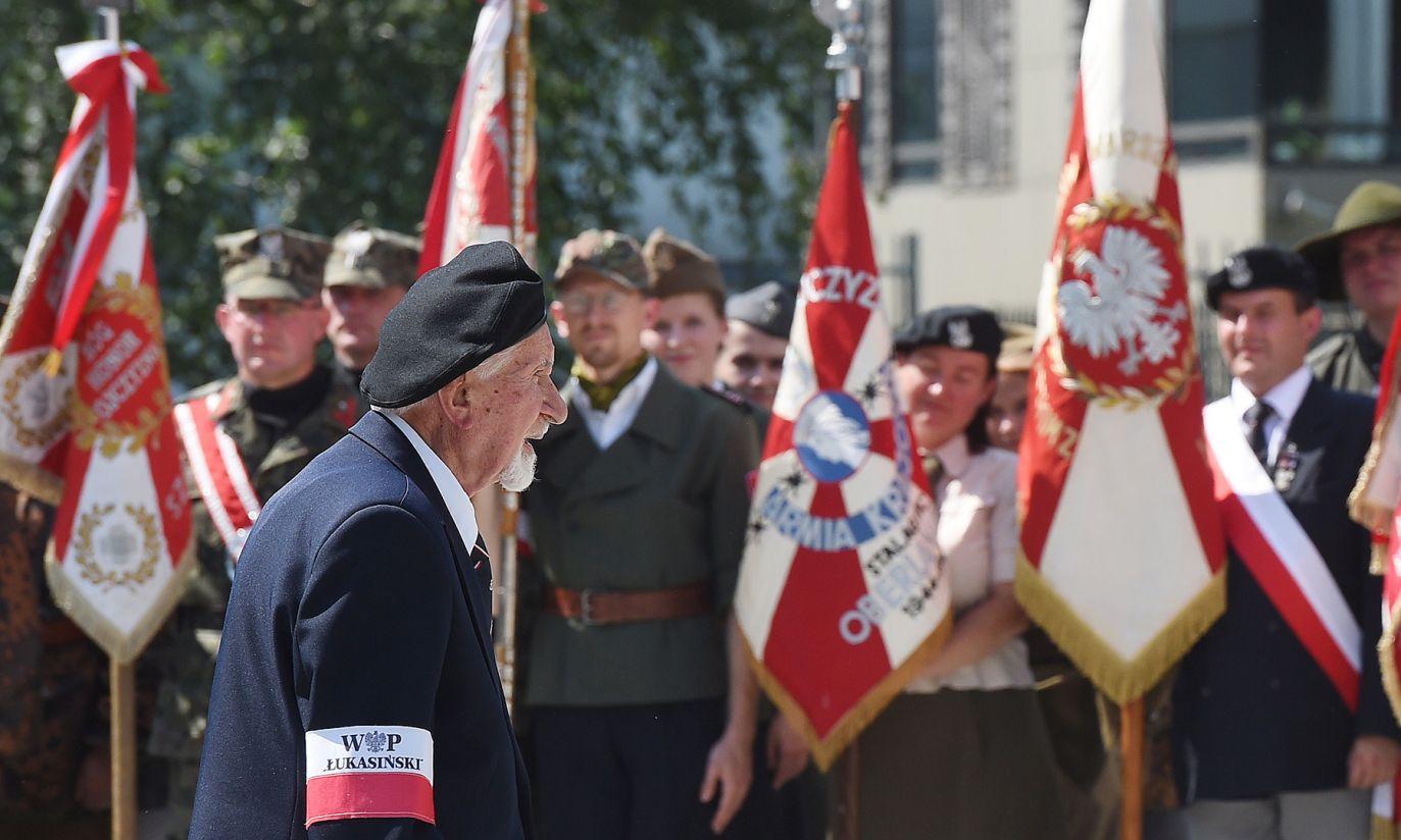 Prezes Zarządu Głównego Światowego Związku Żołnierzy Armii Krajowej Leszek Żukowski (fot. PAP/Radek Pietruszka)