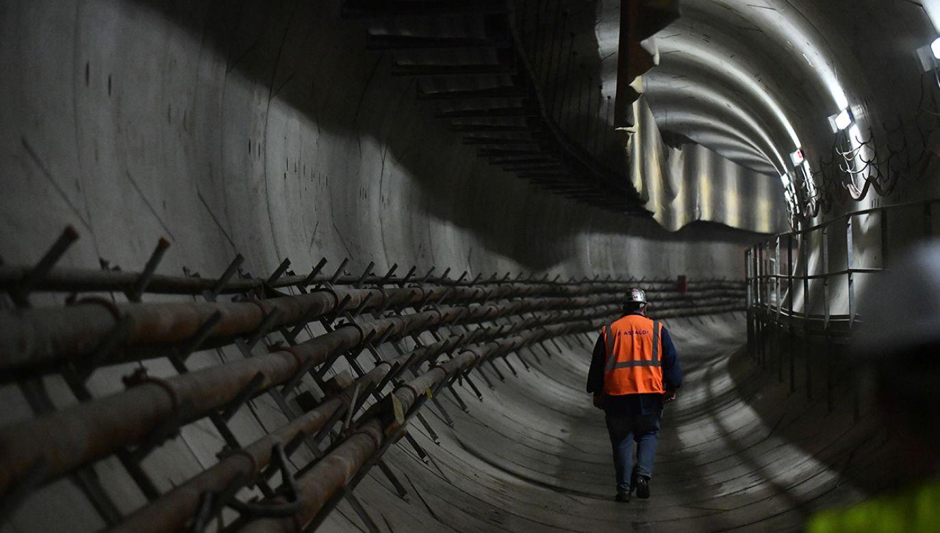 Budowa drugiej linii metra (fot. arch. PAP/Bartłomiej Zborowski)
