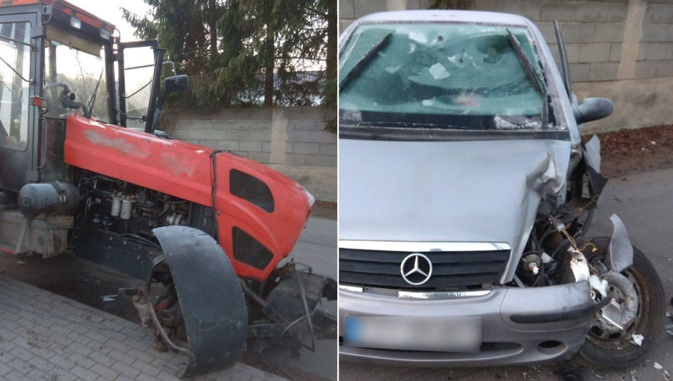 Siedząca za kierownicą kobieta wyjechała na drogę kompletnie nic nie widząc (fot. lubuska.policja.gov.pl)