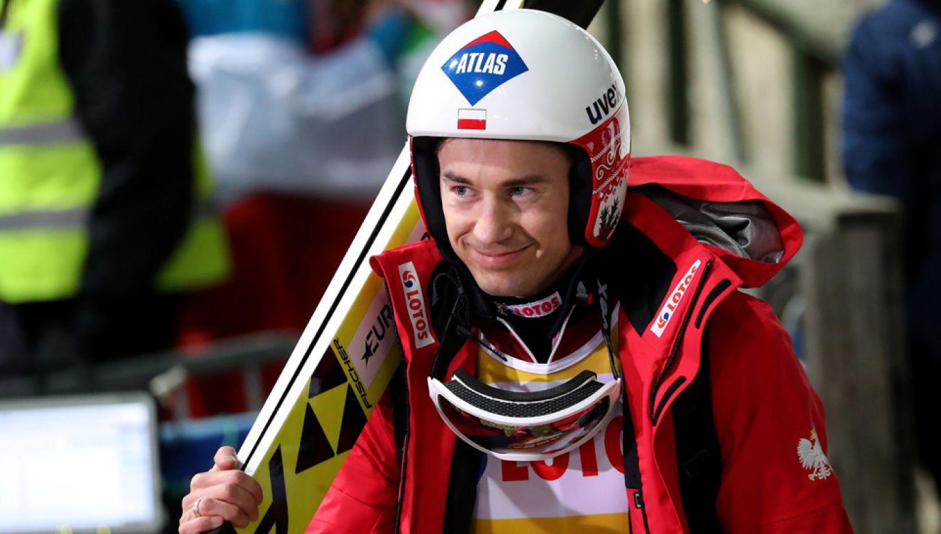 Kamil Stoch po serii treningowej (fot. PAP/Grzegorz Momot)