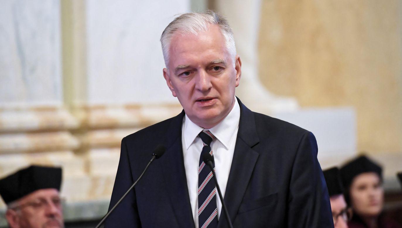 Wicepremier i minister nauki i szkolnictwa wyższego Jarosław Gowin (fot. PAP/Jacek Bednarczy)
