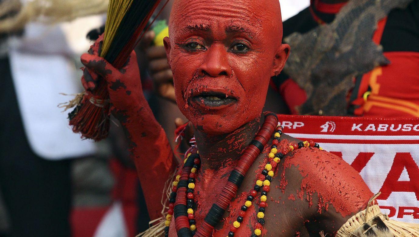 Angolczyk podczas otwarcia Pucharu Narodów Afryki  2010. Fot: PAP / EPA